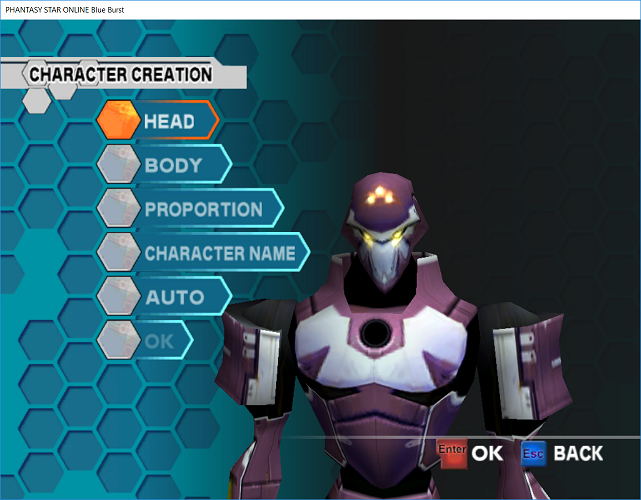 Phantasy Star Online - Ephinea - Customizing A New Character