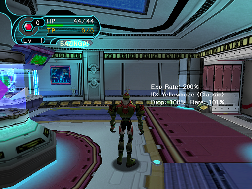 Phantasy Star Online - Hunter's Guild - A HUcast appears at the Hunter's Guild after creating a game.