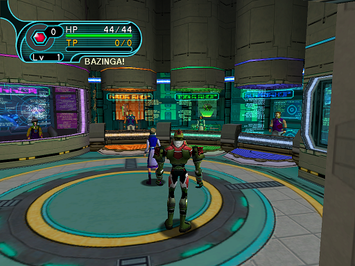 Phantasy Star Online - Shops - A HUcast prepares to shop