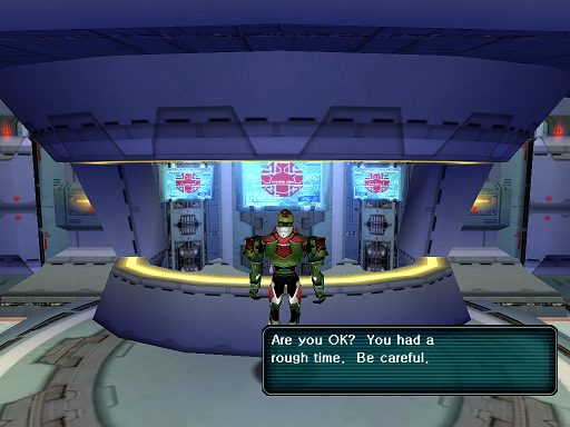 Phantasy Star Online - Medical Center - A HUcast has been revived from death.