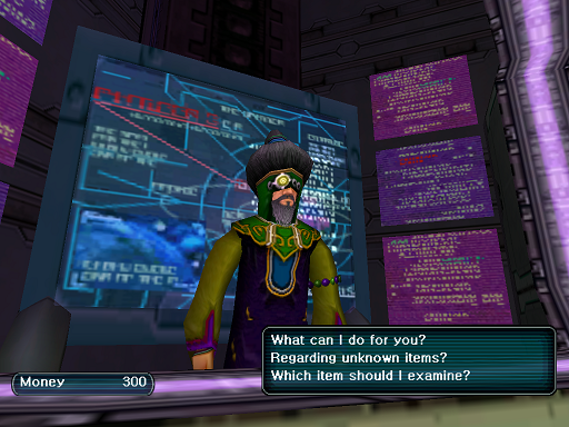 Phantasy Star Online - Shops - A HUcast speaks to the Tekker